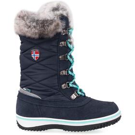 TROLLKIDS Holmenkollen Boots de neige Fille, navy/mint